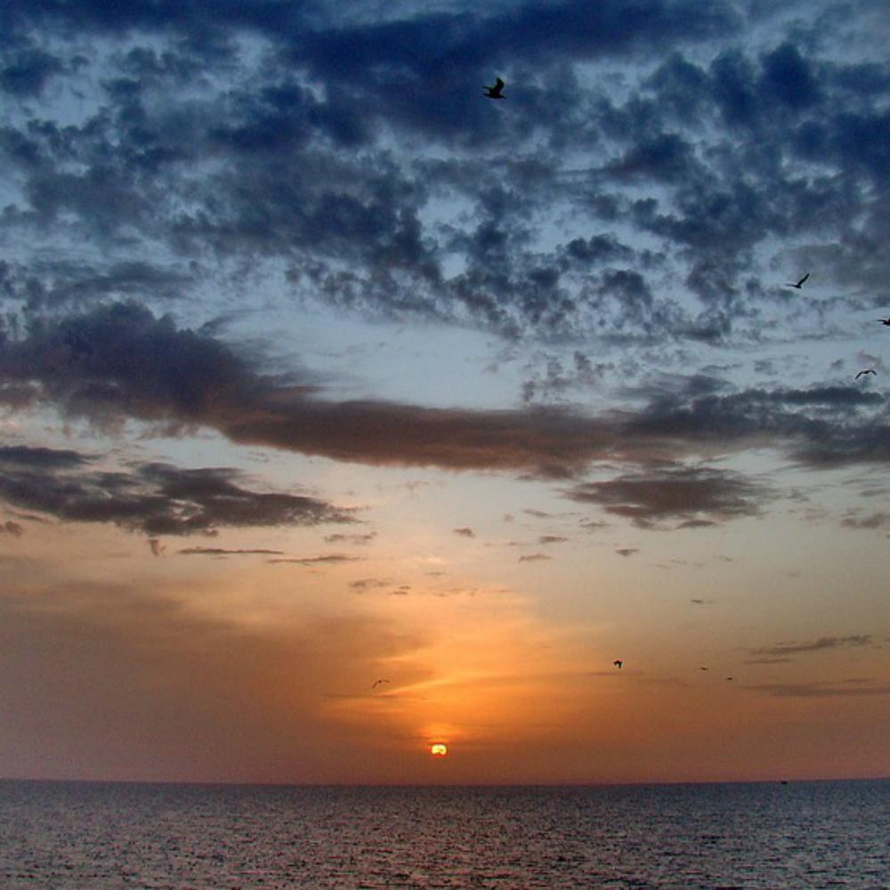 Gibraltar Zonsondergang